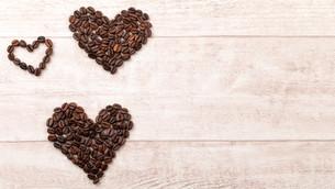 coffee beans heartの写真素材 [FYI00709577]