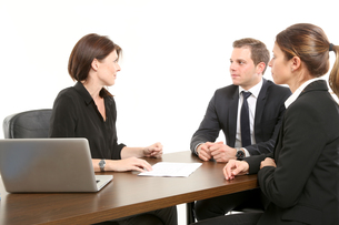 meeting with colleaguesの写真素材 [FYI00709807]