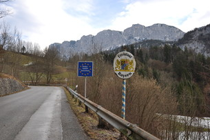 state border germany bayernの写真素材 [FYI00709950]