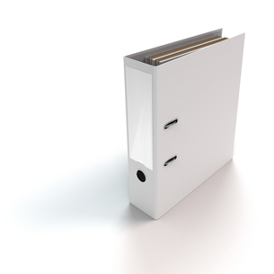white a4 file folders on white backgroundの写真素材 [FYI00710830]