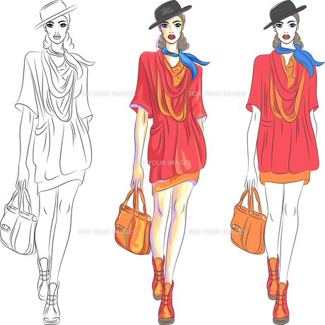 fashion_modelsの素材 [FYI00712037]