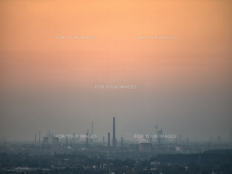 smog over the rhine valleyの素材 [FYI00712261]