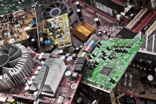electronic scrapの写真素材 [FYI00716046]