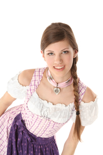 young woman in a dirndlの写真素材 [FYI00717725]