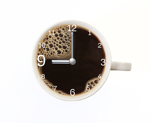 coffee time nine o'clockの写真素材 [FYI00718033]