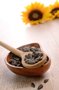 sunflower seedsの写真素材 [FYI00718440]