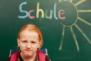 girl resents the schoolの写真素材 [FYI00719839]
