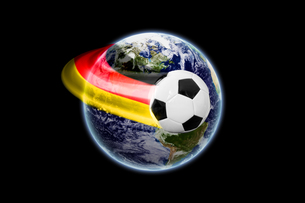 world football - earth texture by nasa.govの写真素材 [FYI00722449]