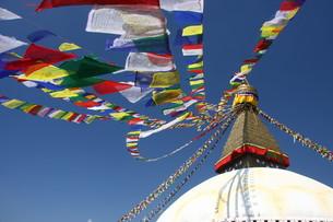buddhist prayer flagsの写真素材 [FYI00722568]