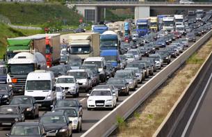 highway congestionの写真素材 [FYI00724058]