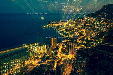 futuristic radial blur background perspectiveの素材 [FYI00725605]