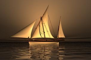 sailboat 3d graphicsの素材 [FYI00725992]