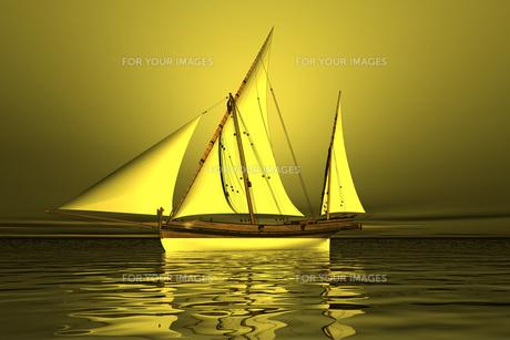 sailboat 3d graphicsの素材 [FYI00725997]