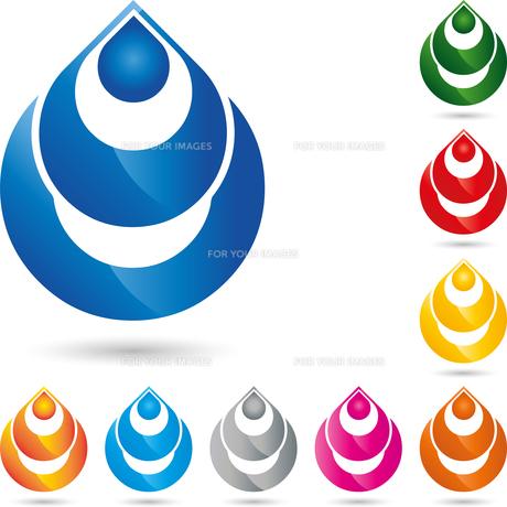 logo,water drops,drops,liquidの写真素材 [FYI00726181]