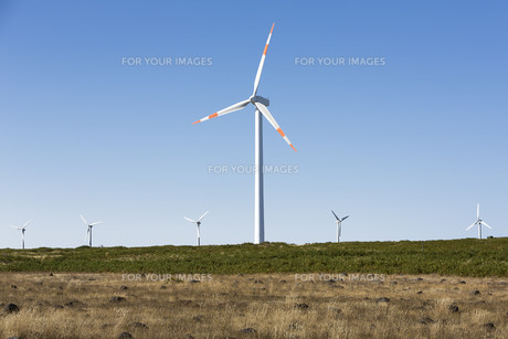 windmills on the island of madeira,portugalの素材 [FYI00727068]
