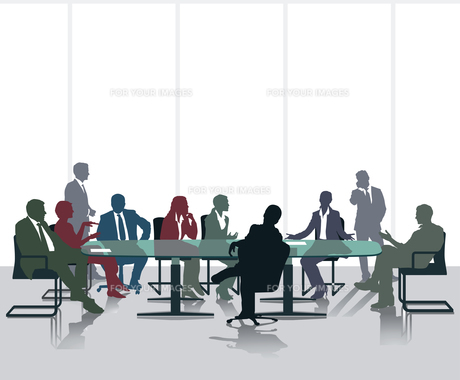 meeting and diskussioの素材 [FYI00727112]