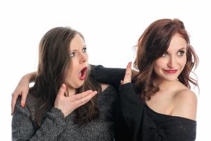 arguing two girlfriendsの写真素材 [FYI00727977]