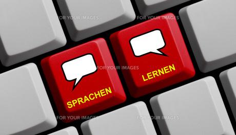 computer keyboard: learn languagesの写真素材 [FYI00732096]