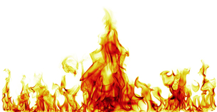 fire flames on black backgroundの写真素材 [FYI00734203]