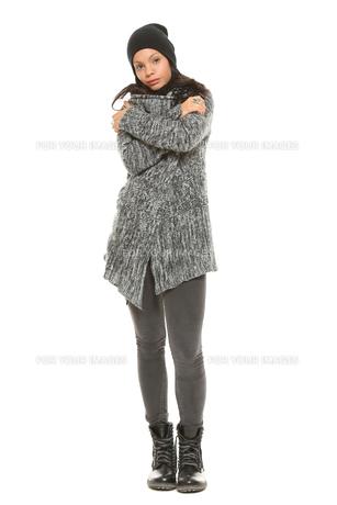 woman in winterの素材 [FYI00734719]