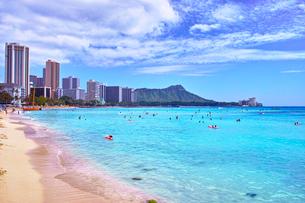 ハワイ ワイキキビーチの写真素材 [FYI00735747]