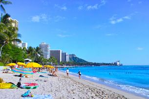 ハワイ ワイキキビーチの写真素材 [FYI00735753]