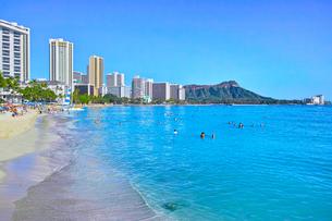 ハワイ ワイキキビーチの写真素材 [FYI00735756]