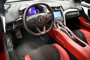 スポーツカーの運転席の写真素材 [FYI00736250]