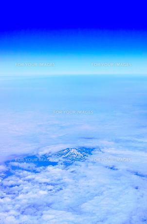 空から見た鳥海山の写真素材 [FYI00736991]