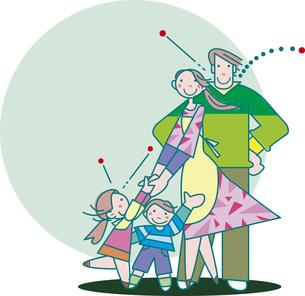 若い家族のイラスト素材 [FYI00737402]