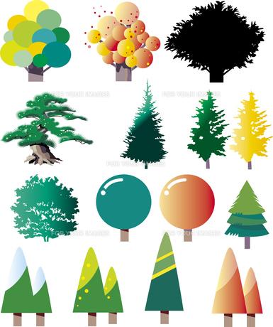 樹木のパーツのイラスト素材 [FYI00737853]