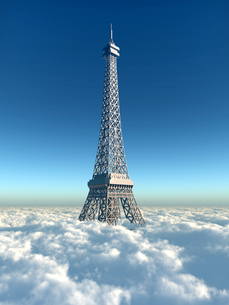 eiffel tower above the cloudsの素材 [FYI00740400]