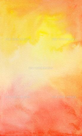 watercolor yellow orange redの素材 [FYI00740773]