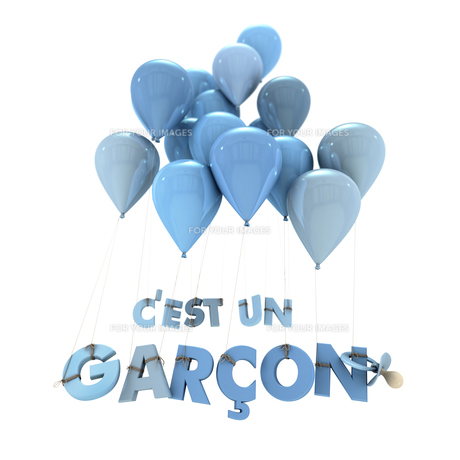 French baby boy birth announcementの写真素材 [FYI00741181]