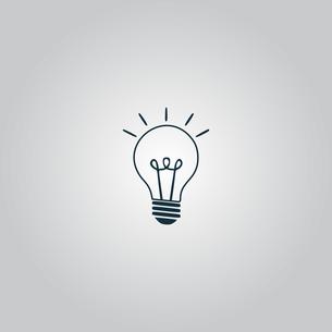 Light lamp sign icon. Idea symbol.の素材 [FYI00741199]