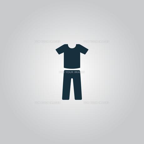 uniform - pants and t-shirtの写真素材 [FYI00741207]