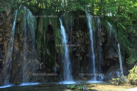 the national park plitvice in croatiaの写真素材 [FYI00741731]