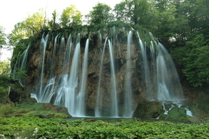 the national park plitvice in croatiaの写真素材 [FYI00741733]