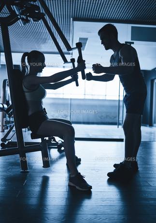 Activities in gymの写真素材 [FYI00741971]