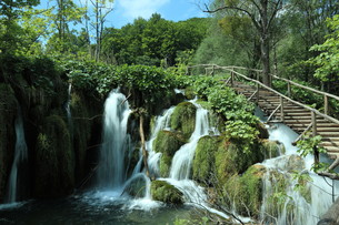 the national park plitvice in croatiaの写真素材 [FYI00742099]