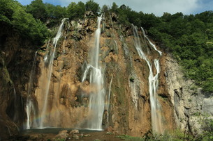 the national park plitvice in croatiaの写真素材 [FYI00742106]