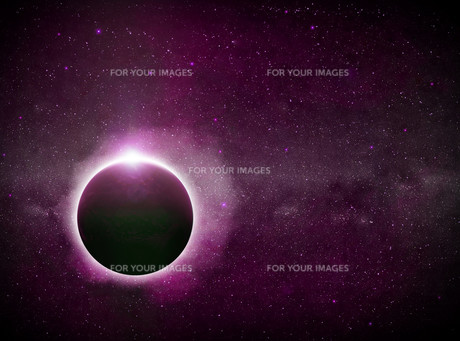 Eclipse on the planet Earthの写真素材 [FYI00742227]