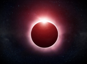 Eclipse on the planet Earthの写真素材 [FYI00742255]