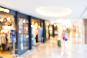 Blur background of shopping centerの写真素材 [FYI00742371]