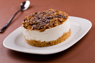 Chocolate And Cookies Cheesecakeの写真素材 [FYI00742696]