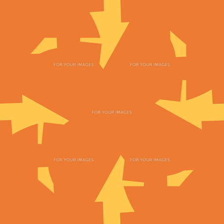 Abstract Arrow Shapes Over Orangeの素材 [FYI00742822]