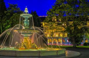 Fountain at the English garden, Geneva, Switzerland, HDRの写真素材 [FYI00742875]