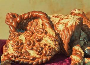 Beautiful cake original form. Sold at the fair.の写真素材 [FYI00742947]