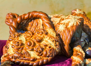 Beautiful cake original form. Sold at the fair.の写真素材 [FYI00742957]