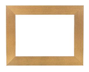 golden empty picture frameの写真素材 [FYI00743266]